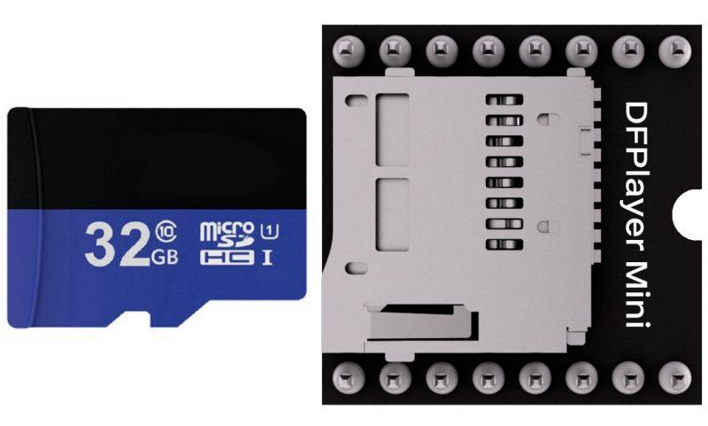 Как вставить MicroSD в DFPlayer Mini