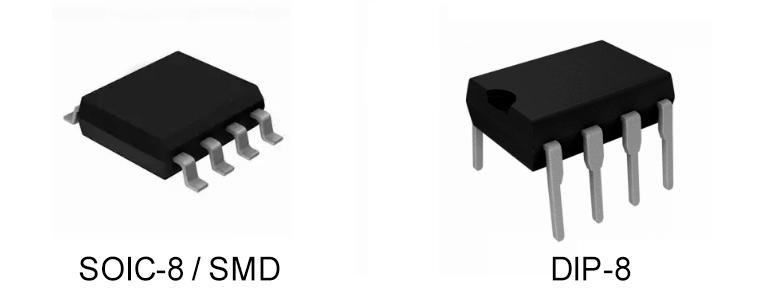 Микросхемы представлены в SOIC-8 и DIP-8 корпусах